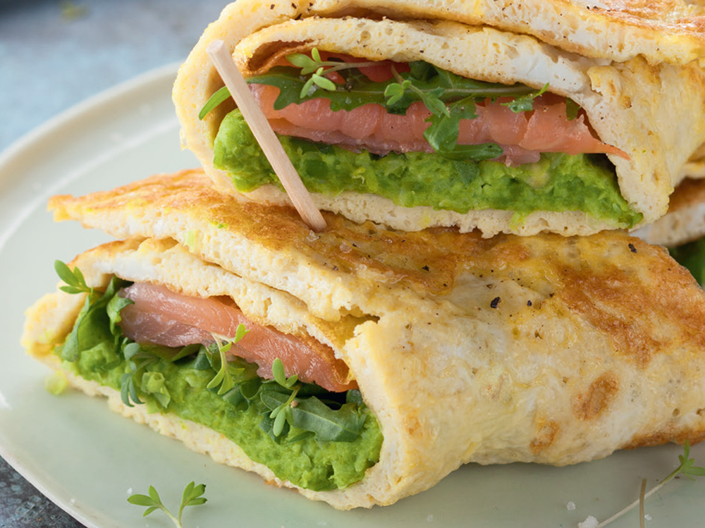 Omelette Wraps with Smoked Salmon