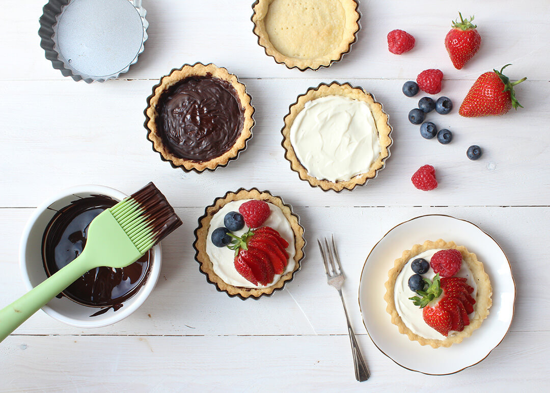Summer Fruit and Chocolate Tartlets Main Image