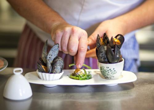 Trio of mussels from La Fosse at Cranborne