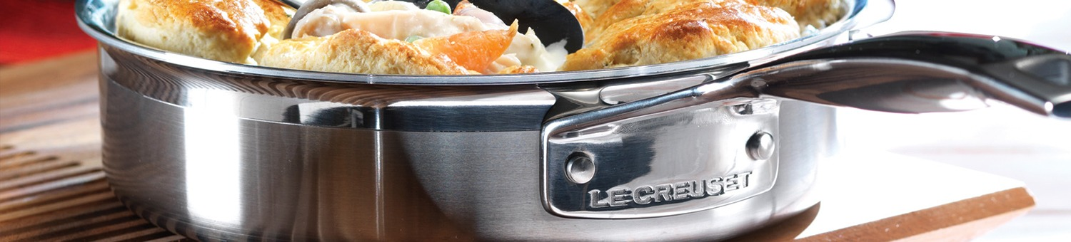 Le Creuset 3-ply Stainless Steel Cookware