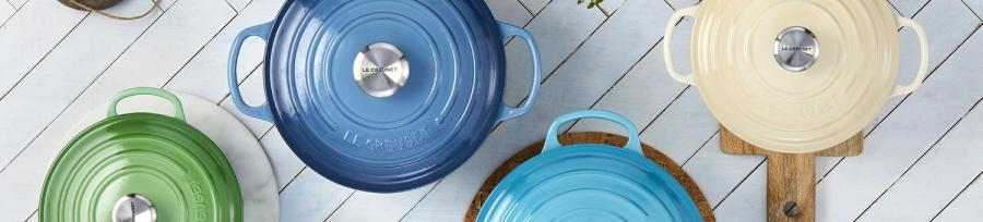 Le Creuset Signature Coastal Blue Casseroles