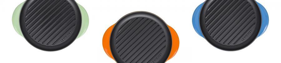 Le Creuset Cast Iron Round Grills