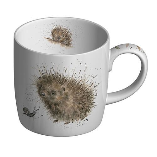 Wrendale Mug 11 oz Royal Worcester Awakening Hedgehog Bone China Porcelain