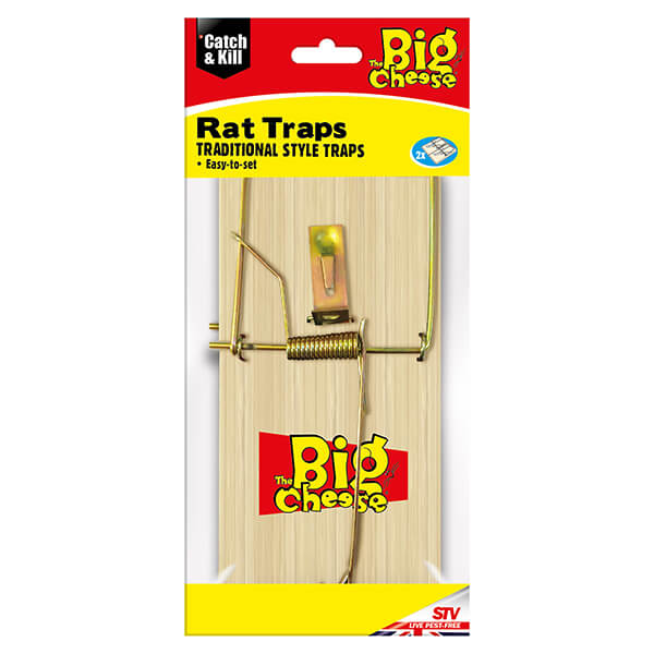 The Big Cheese Wooden Rat Trap Pack Of 2 Stv047 Harts Of Stur