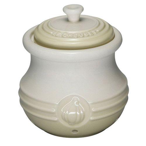 Le Creuset Almond Stoneware Garlic Keeper