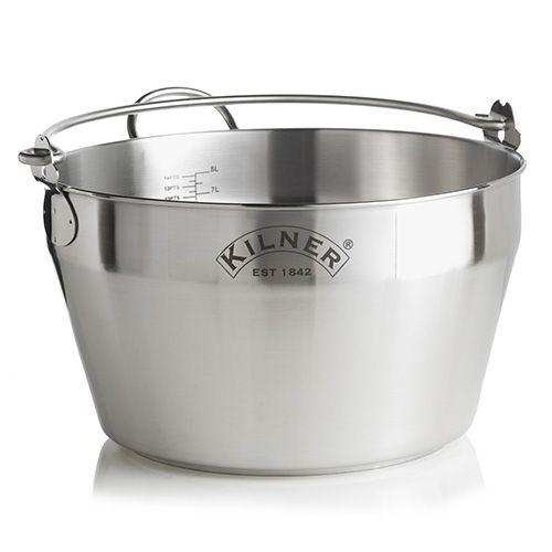Kilner Stainless Steel Maslin Jam Pan 8 Litre