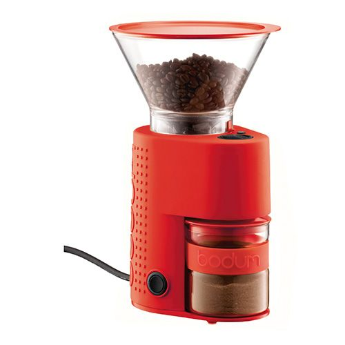 Bodum Bistro Electric Coffee Grinder Red