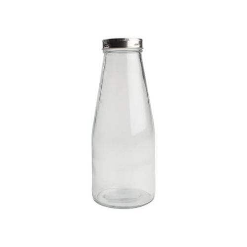 T&G 750ml Medium Glass Bottle With Stainless Steel Lid