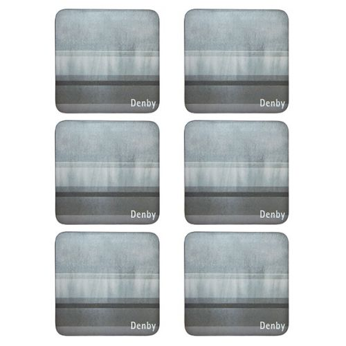Denby Colours Grey 6 Piece Coasters