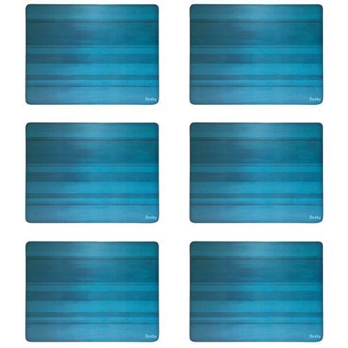 Denby Colours Turquoise 6 Piece Placemats