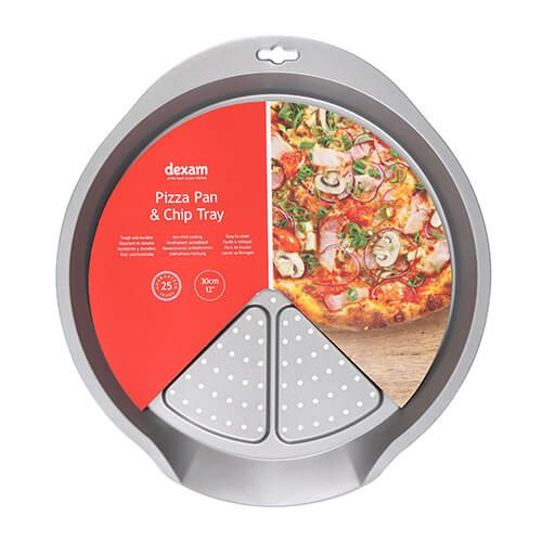 Dexam Bakers Pride Non-Stick 30cm Pizza Pan & Chip Tray
