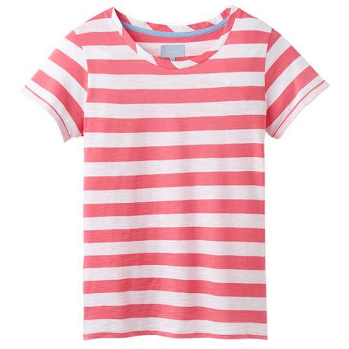 Joules Nessa Stripe Pink White Stripe Lightweight Jersey T-Shirt Size 10