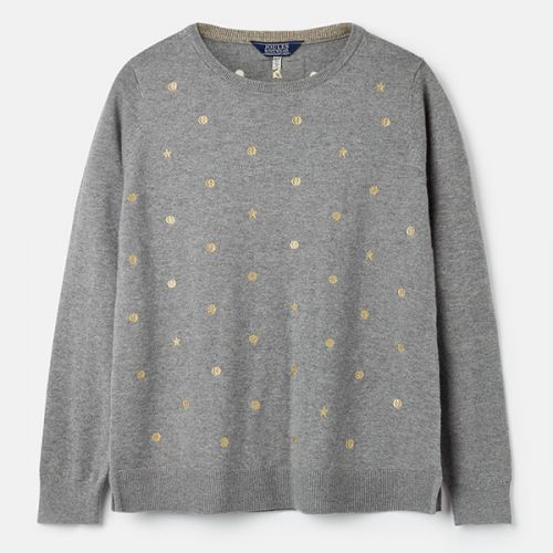 Joules Holly Grey Marl Crew Neck Jumper Size 16