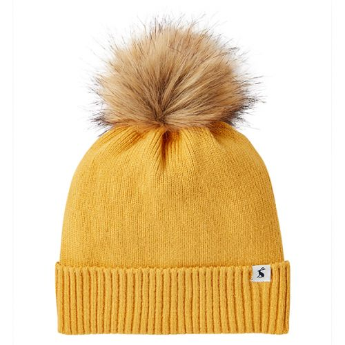 Joules Snowday Antique Gold Lightweight Knitted Hat