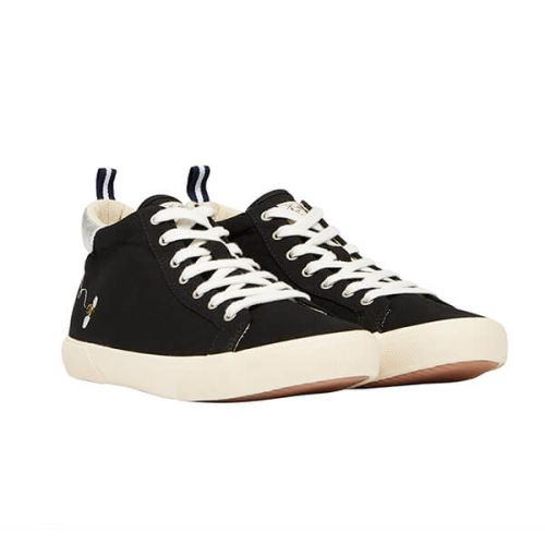 Joules Black High Top Trainers Size 6