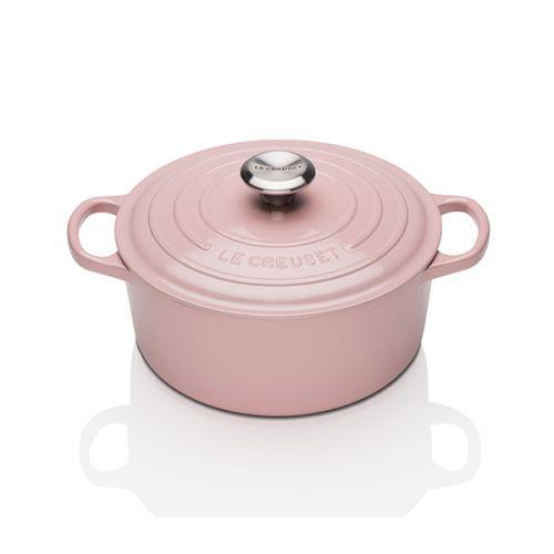 Le Creuset Signature Chiffon Pink Cast Iron 20cm Round Casserole