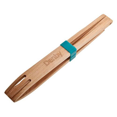 Denby Azure Wooden Tongs