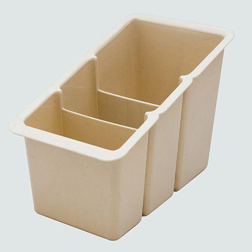 Delfinware Cream Plastic Cutlery Basket