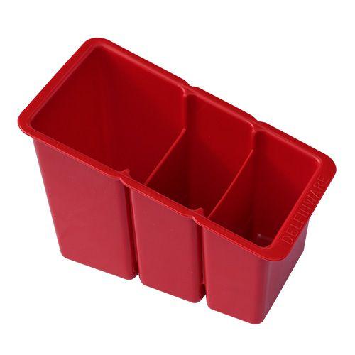 Delfinware Red Plastic Cutlery Basket