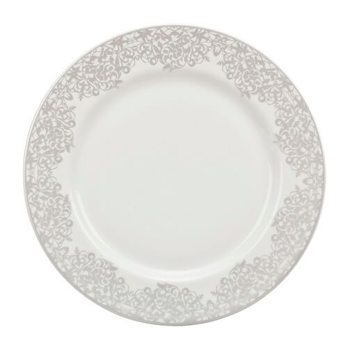 Denby Monsoon Filigree Silver Medium Plate