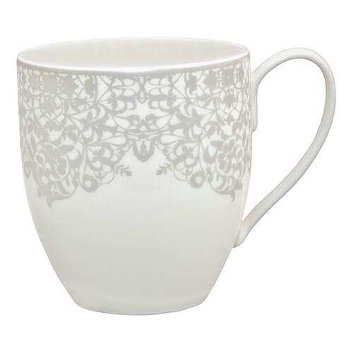 Denby Monsoon Filigree Silver Large Mug