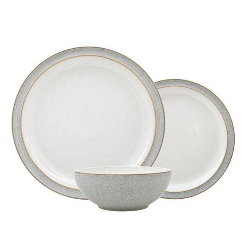 Denby Elements Light Grey 12 Piece Tableware Set