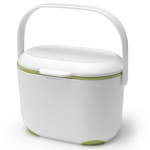 Addis Compost Caddy White / Green