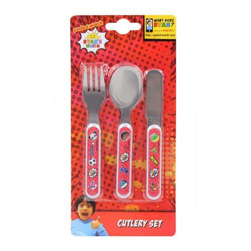 Ryan's World 3 Piece Children's Metal Cutlery Set