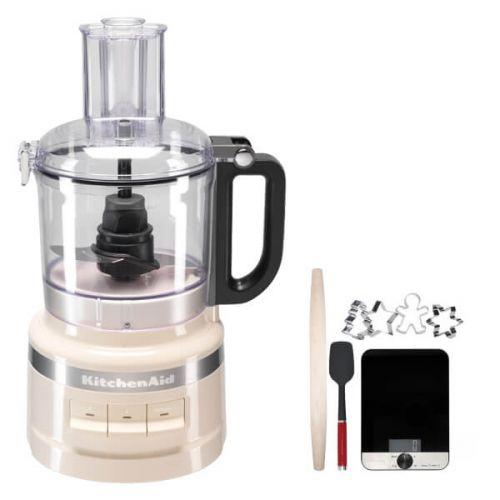 KitchenAid 1.7L Almond Cream Food Processor with FREE Gift
