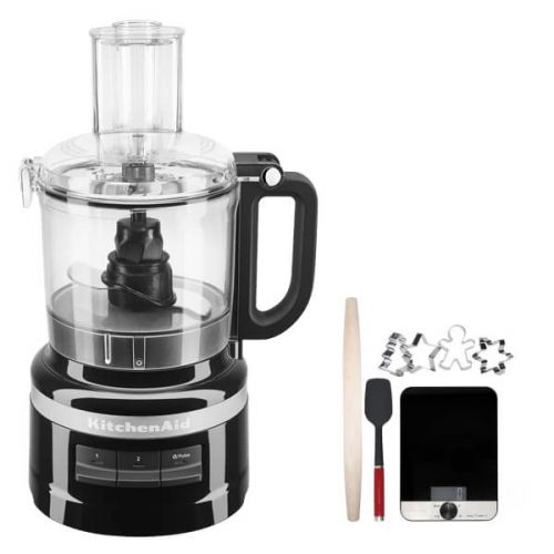 KitchenAid 1.7L Onyx Black Food Processor with FREE Gift
