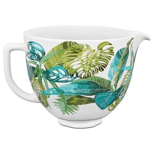 KitchenAid Ceramic 4.8L Mixer Bowl Tropical Flora