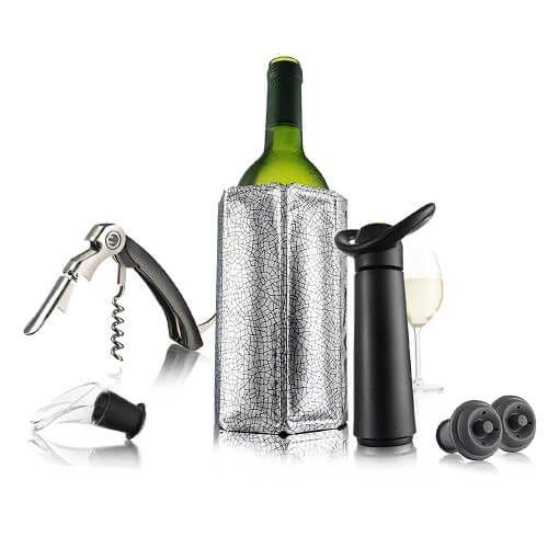Vacu Vin Wine Essentials Gift Set Black