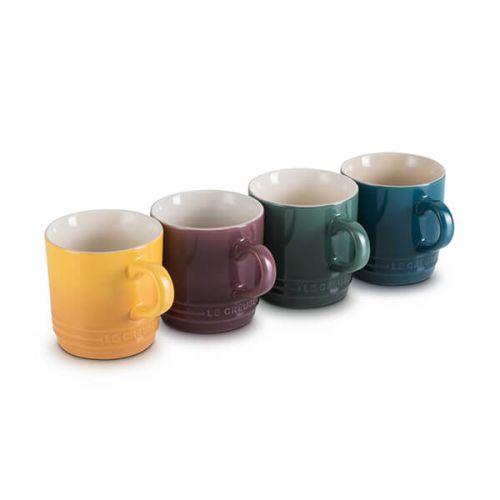 Le Creuset Botanique Stoneware Set Of 4 200ml Cappuccino Mugs