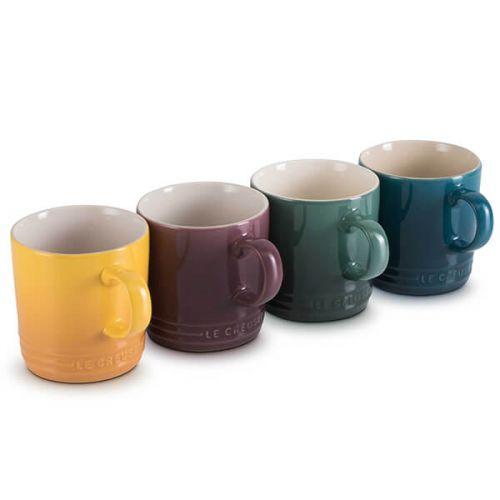 Le Creuset Botanique Stoneware Set Of 4 350ml Mugs