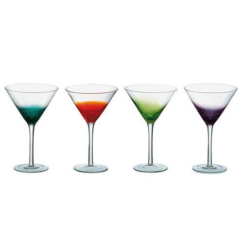 Anton Studios Fizz Set of 4 Cocktail Glasses