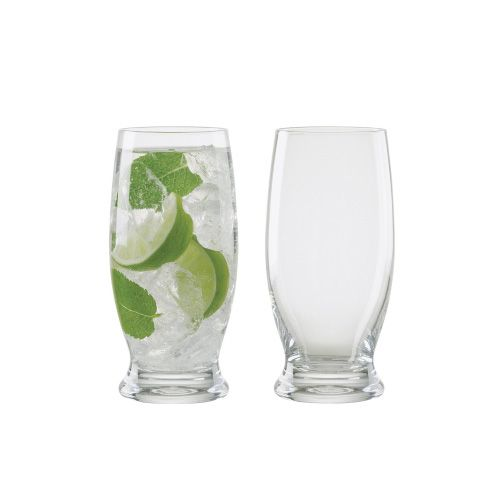 Anton Studios Design Manhattan Set of 2 Long Drink Glasses