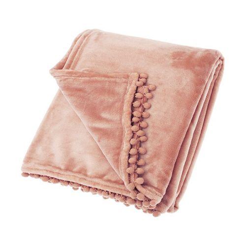 Walton & Co Cashmere Blush Pink Touch Fleece Throw