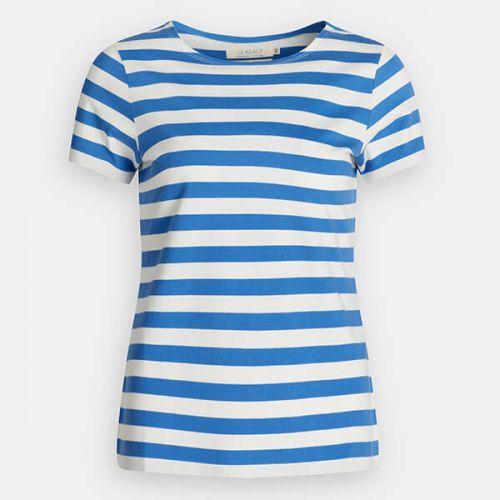Seasalt Sailor T-Shirt Cornish Borage Chalk Size 14