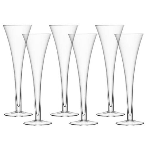 LSA Bar Hollow Stem Flute 200ml Glass, 6 for 4