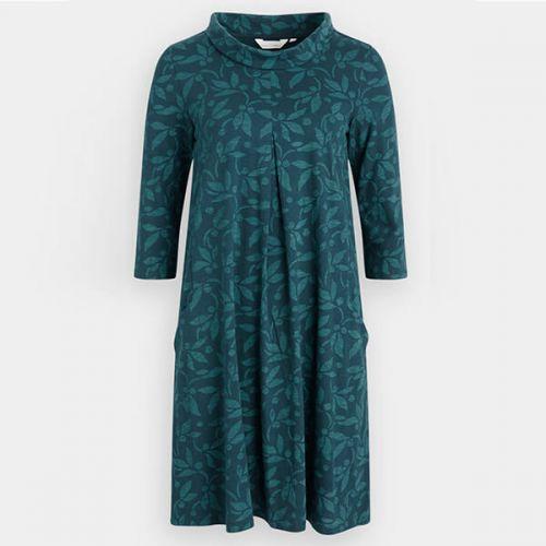 Seasalt Etching Ink Dress Textured Berries Dark Lake Size 22