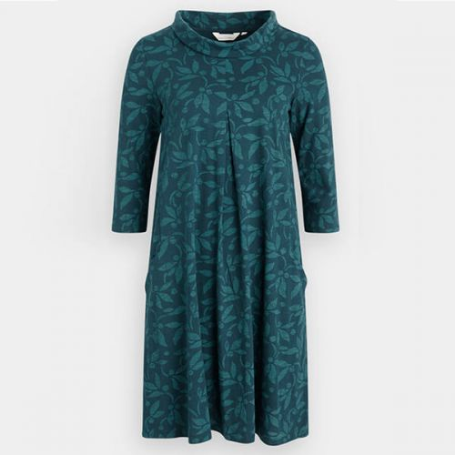 Seasalt Etching Ink Dress Textured Berries Dark Lake Size 12