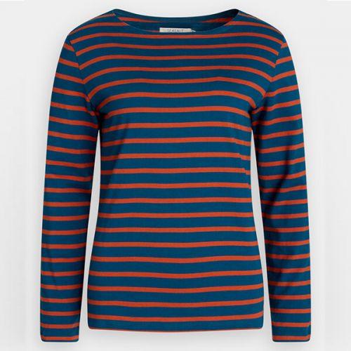 Seasalt Sailor Shirt Breton Dark Galley Copper Size 8