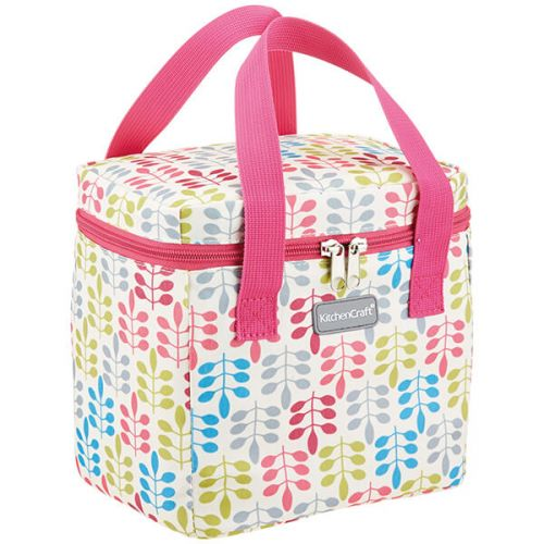 KitchenCraft 5 Litre Tall Leaf Lunch And Snack Cool Bag
