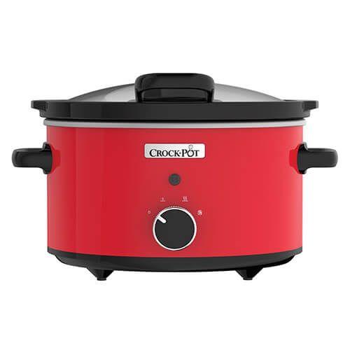 Crock Pot Hinged Lid 3.5 Litre Red Slow Cooker