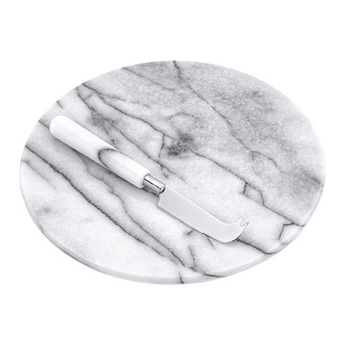 Judge White Marble Cheese Board & Knife 26cm/10