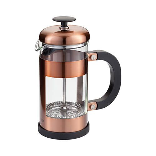 Judge 3 Cup Glass Cafetiere Copper