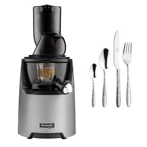 Kuvings EVO820 Evolution Cold Press Juicer Silver with FREE Gift
