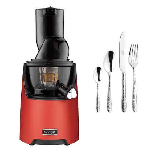 Kuvings EVO820 Evolution Cold Press Juicer Red with FREE Gift