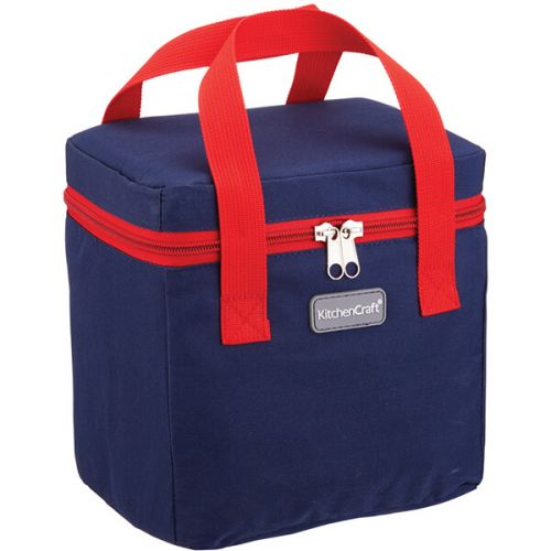 KitchenCraft 5 Litre Lunch Navy and Red Cool Bag