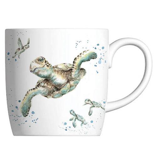 Wrendale Designs Fine Bone China Mug Swimming School, Turtle